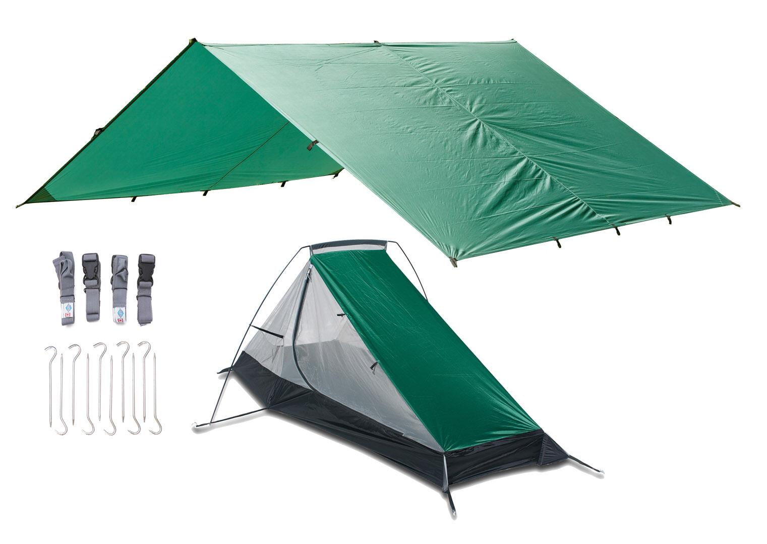 Aqua Quest West Coast Combo - 100% Waterproof Tarp + Bivy + Pegs + Straps Kit