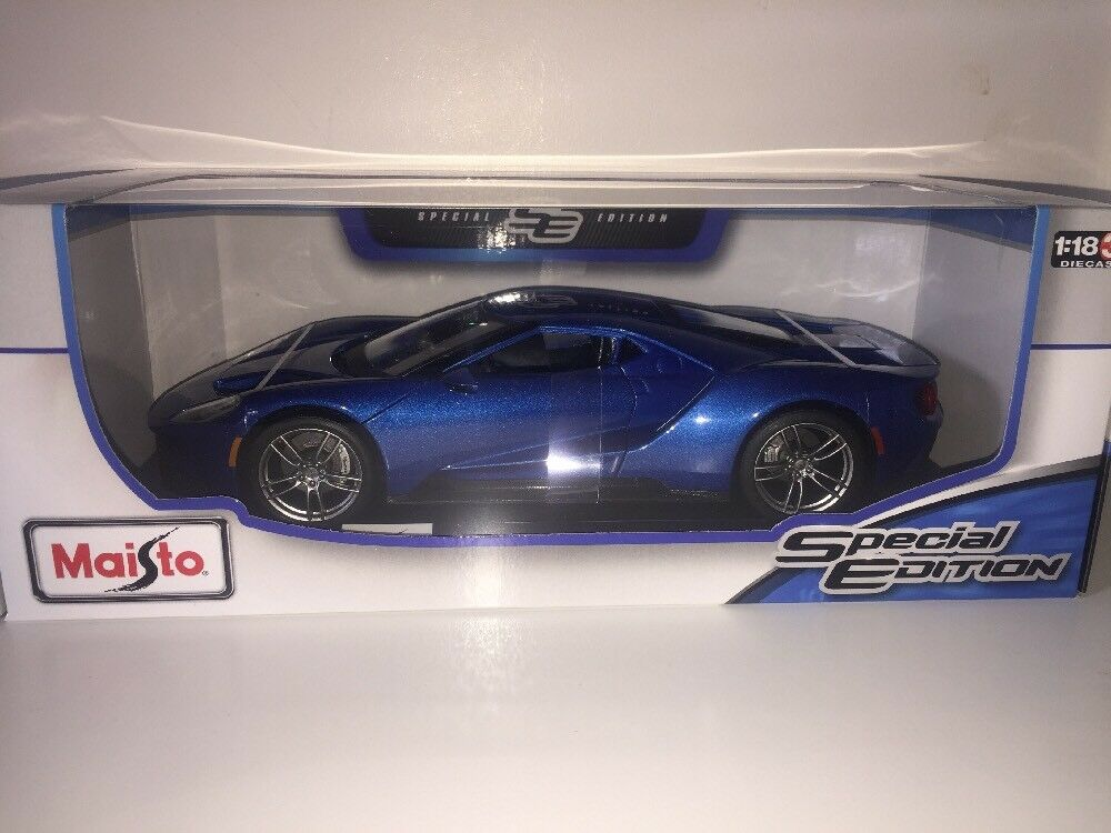 1 18 Maisto Ford GT Super Sports American Muscle Performance Car 1 18 blueE