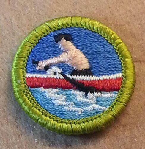 PLASTIC BACK   B00088 BSA ROWING Merit Badge Type H 1972-2002