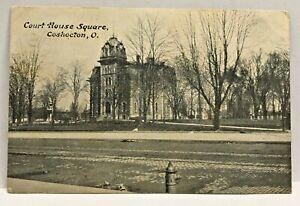 Vintage-Postcard-Court-House-Coshocton-Ohio-c-1907-1915