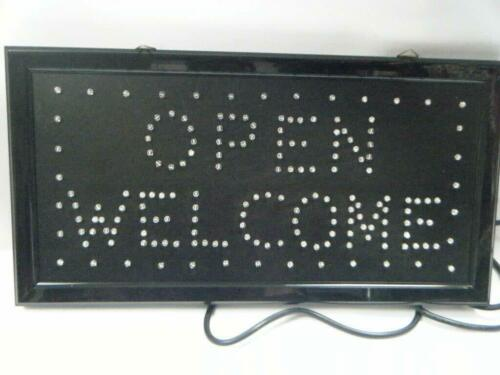 Super Bright Flashing LED Open Welcome Shop Sign Neon Hang Display Window Light