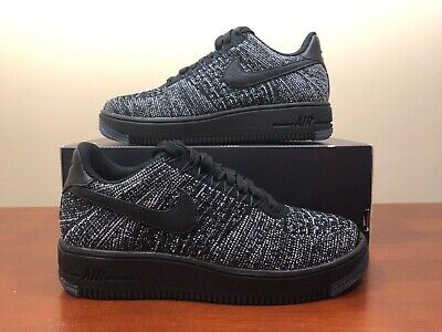 latest huge inventory official images Women's Nike Air Force 1 AF1 Flyknit Low Size 5.5 Oreo Black/White ...