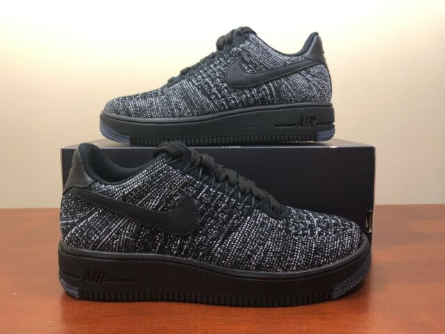newest f99e5 fd84f Women's Nike Air Force 1 Af1 Flyknit Low Size 5.5 Oreo Black/white  820256-007