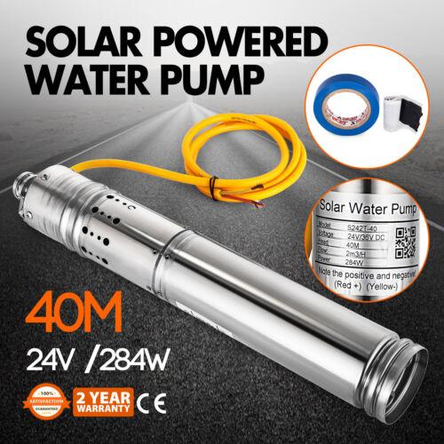 Pompe à Eau Solaire Pour 24v Dc 284w 2m3//H Submersible Pompe Puits Inox
