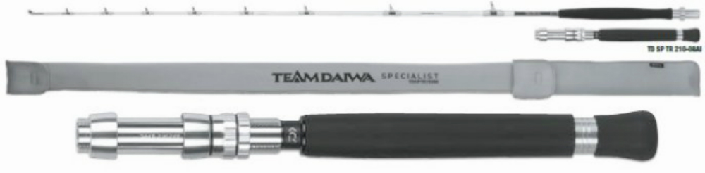 Fishing rod lagging td daiwa specialist at 2.10mt 8lb 2 sections