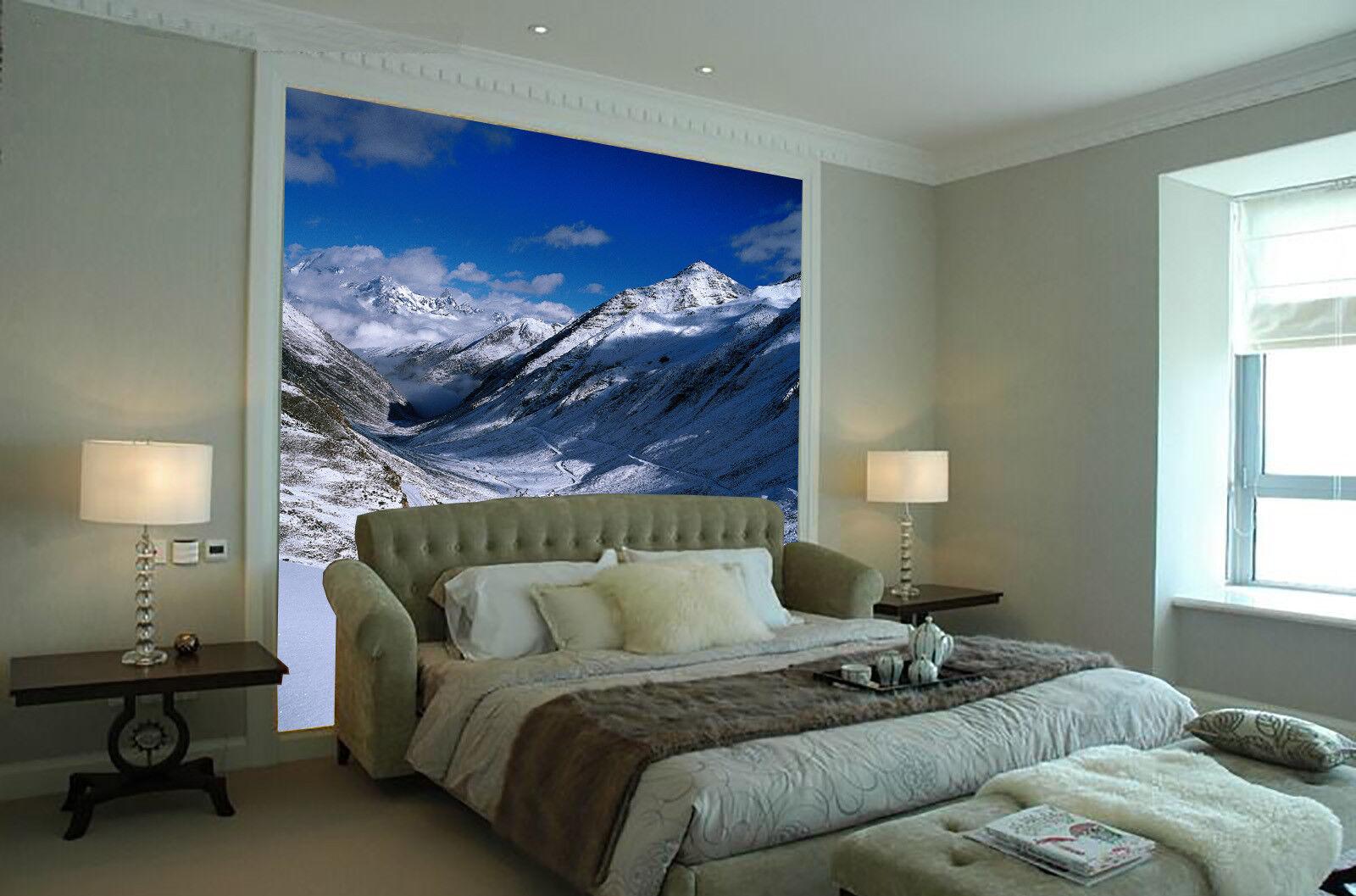 Papel Pintado Mural De Vellón Hermoso Nieve Montañas 2 Paisaje Fondo De Pansize
