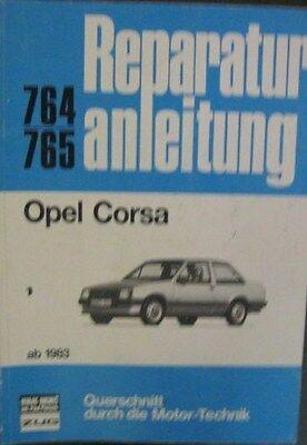 * Opel Corsa 10s 12s 13s 1,3 Sr Reparaturanleitung Ab 1983 * Gut FüR Energie Und Die Milz