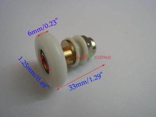 2pc 19mm-27mm Shower Sliding Door Shower Bath Door Rollers Runners Wheels Pulley
