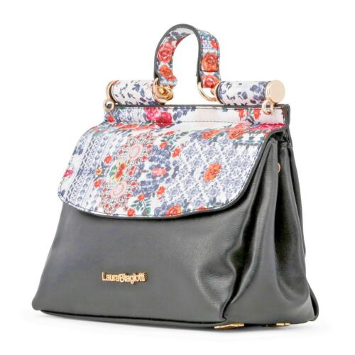 Biagiotti de Laura mujer 100 Tote flores estampado Bag original para Bolso qEnT7