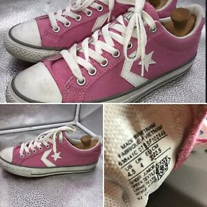 Converse-All-Star-Trainers-Size-4-37-Pink-Low-Tops-Canvas-Sneakers-Girls-Womens