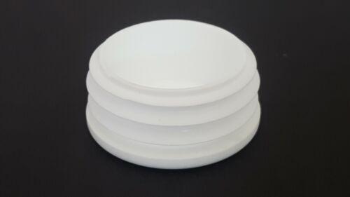 43mm-10pcs Round Plastic White Blanking End Cap Caps Tube Pipe Inserts Plug