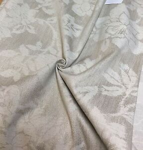 MARK-amp-SPENCER-NEXT-NATURAL-FLORAL-WOVEN-UPHOLSTERY-FABRIC-1-8-METRES