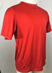 Oakley-Regular-Fit-T-shirt-Men-039-s-Short-Sleeve-Sport-Red-Size-M