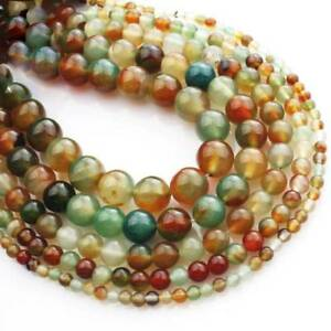 """Wholesale Charms 15/"""" Natural Peacock Agate Gemstone Round Spacer Beads 4mm~10mm"""
