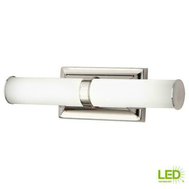 Home Decorators Collection Vanity Light 60 Watt Integrated Led Polished Nickel For Sale Online Ebay