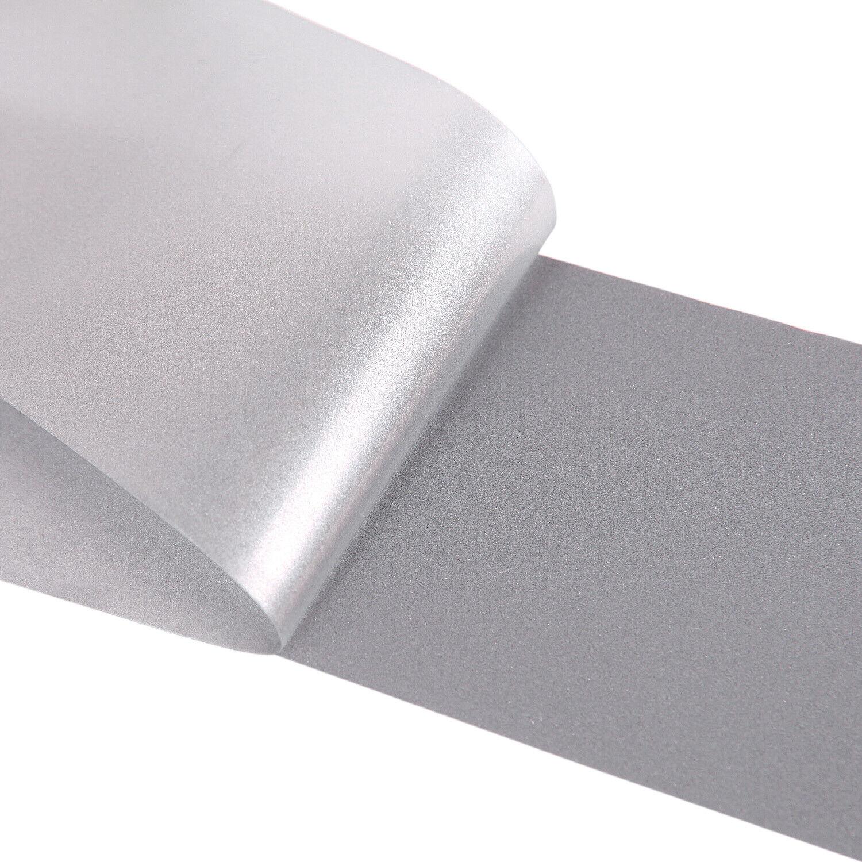 1 Roll Silver Reflective Tape Iron On Heat Transfer Aluminum Film DIY Craft Tool