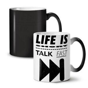 Life is Short Joke Funny NEW Colour Changing Tea Coffee Mug 11 oz | Wellcoda