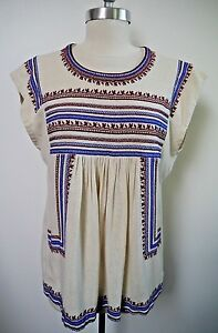 6409da19b4d Image is loading NEW-ISABEL-MARANT-ETOILE-embroidered-tunic-top-blouse-