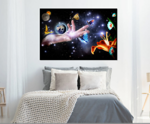 Beautiful Abstract Universe Hand Print Home Decor Wall Art choose your size