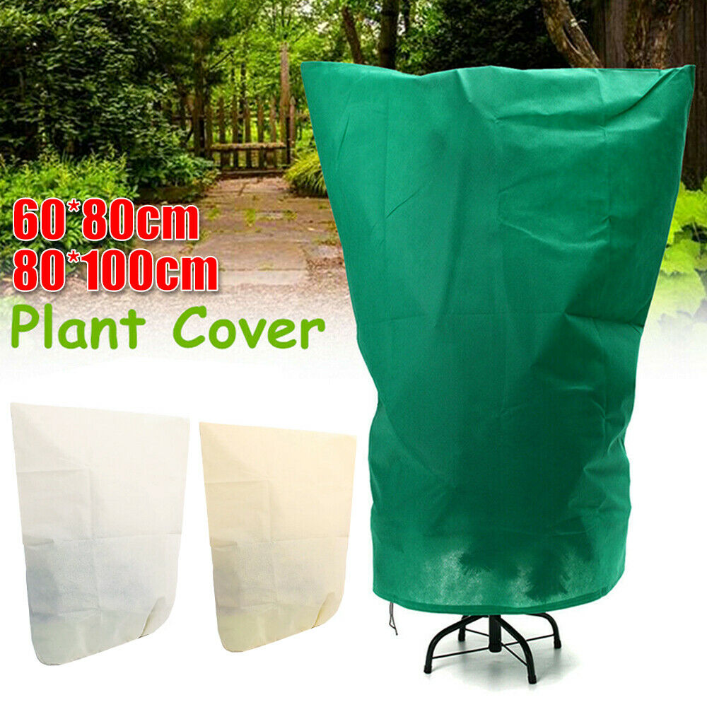 Anti-Freeze Thick Drawstring Home Potted Plants Tree Protective Cover Outdoor