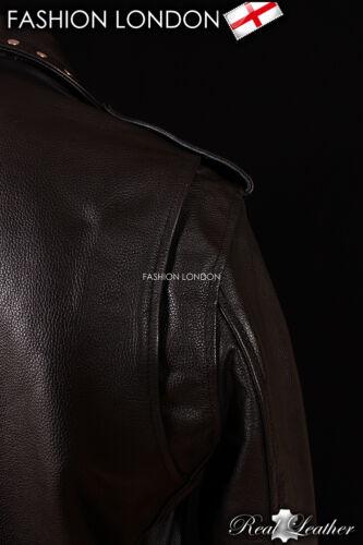 /'BRANDO STUDS/' Men/'s Black Motorcycle MOTORBIKE CRUISER Real Hide Leather Jacket