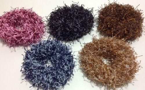 2 x Scrunchie Haargummi URBAN SPIRIT urbaner Schick Farbe wählbar Haarband Zopf