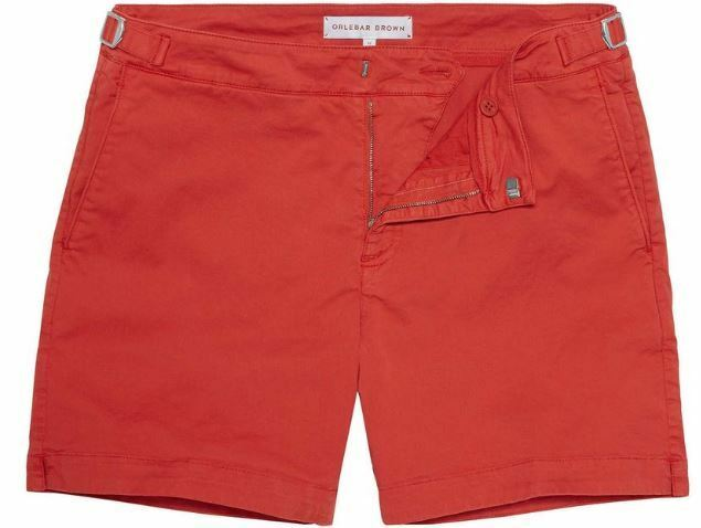 ORLEBAR BROWN BULLDOG COTTON TWILL SIZE 36 SHORTS, COLOUR POMIDgold, BNWT