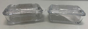 Williams-Sonoma-Bordeaux-Glass-Butter-Dishes-1-has-chipped-lid-SET-of-2