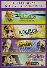 Sexy Comedia, 4 Peliculas, DVD, 2009, El Sancho, El Quelite, Juegos de Acoba, +