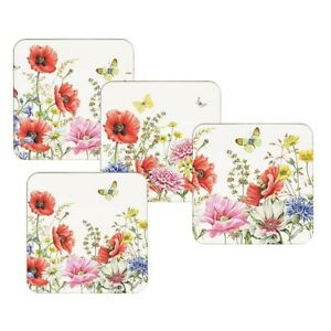 4 Dining Placemats /& Coasters Tablemats Dining Flower Poppy Poppies Nature War
