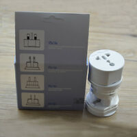 110-250V International All-In-One Travel Adapter W/Surge Protector EU US UK Plug