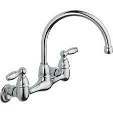 Peerless Retro Chrome Single Handle Wall Mount Kitchen Faucet 8300 Delta For Sale Online Ebay