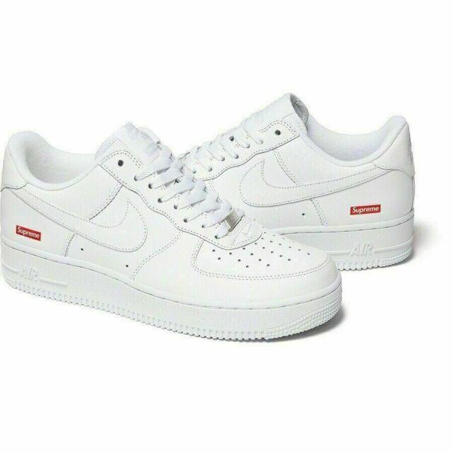 Size 8 - Nike Air Force 1 Low x Supreme Box Logo - White 2020