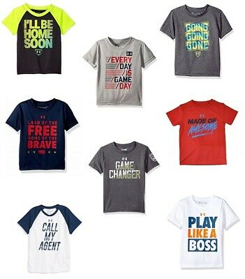 New Under Armour Little Boy/'s Graphic Print T-Shirt SIZE 2,3,4,5,6,7 MSRP:$25.00