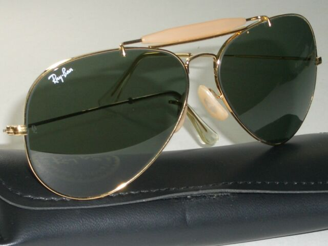 335e25d8aade 62  14 B L RAY BAN G15 UV 24K GOLD PLATED OUTDOORSMAN II AVIATOR SUNGLASSES