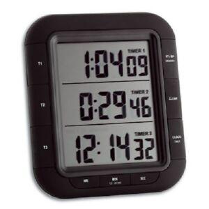 premium 3 fach gleichzeitig timer countdown stoppuhr mit magnet uhr 1 100 sek ebay. Black Bedroom Furniture Sets. Home Design Ideas