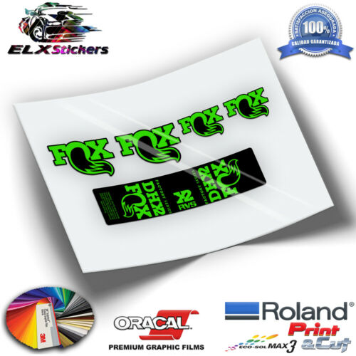 SHOCK ABSORBER FLUOR STICKERS PEGATINAS AMORTIGUADOR FOX DHX2 FACTORY WP195