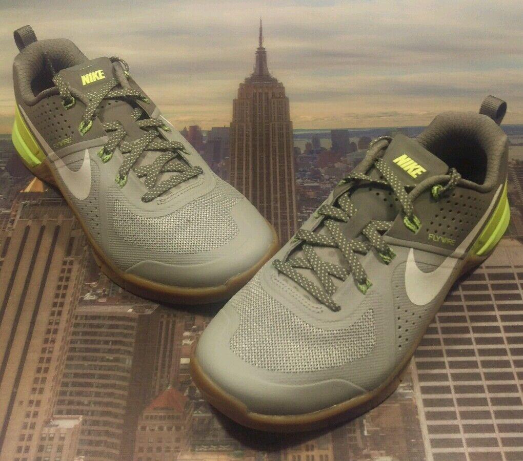 Nike Metcon 1 Wolf Grey/White-Cool Grey-Volt Men's Size 7.5 704688 017 New 2 3