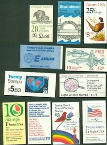 U.S. DISCOUNT POSTAGE LOT, 11 assorted booklets, Face $42.86