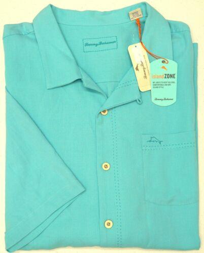 NWT $140 Tommy Bahama Aqua Blue SS Shirt Royal Bermuda Mens 2XB 3XB Clear Ocean
