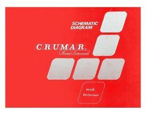 CRUMAR PERFORMER 2nd Service Manual Schematic diagrams Schaltplan Schemi elettr