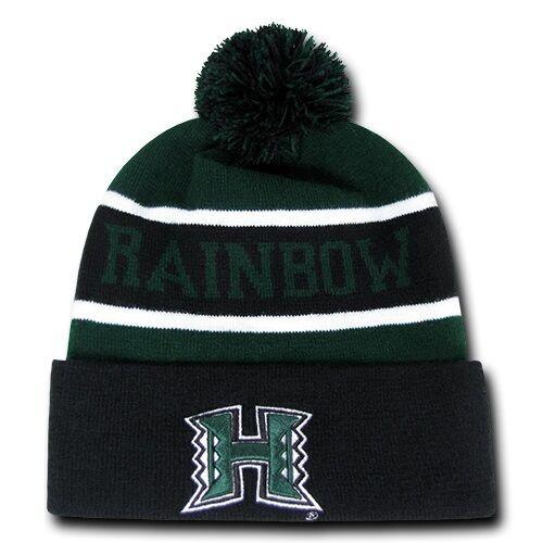 University of Hawaii Rainbow Warriors NCAA Winter Pom Cuff Knit ... 31e2c716a1d