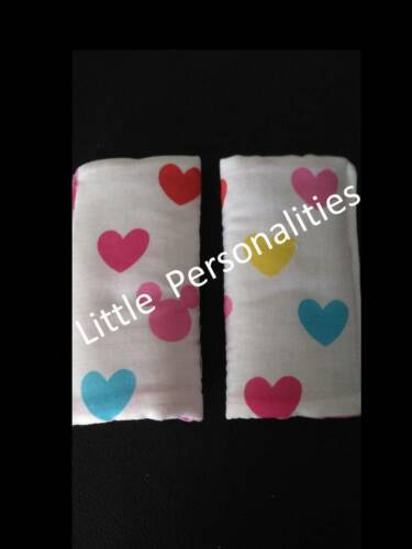 character baby first stage car seat harness strap cover pads blue pink white