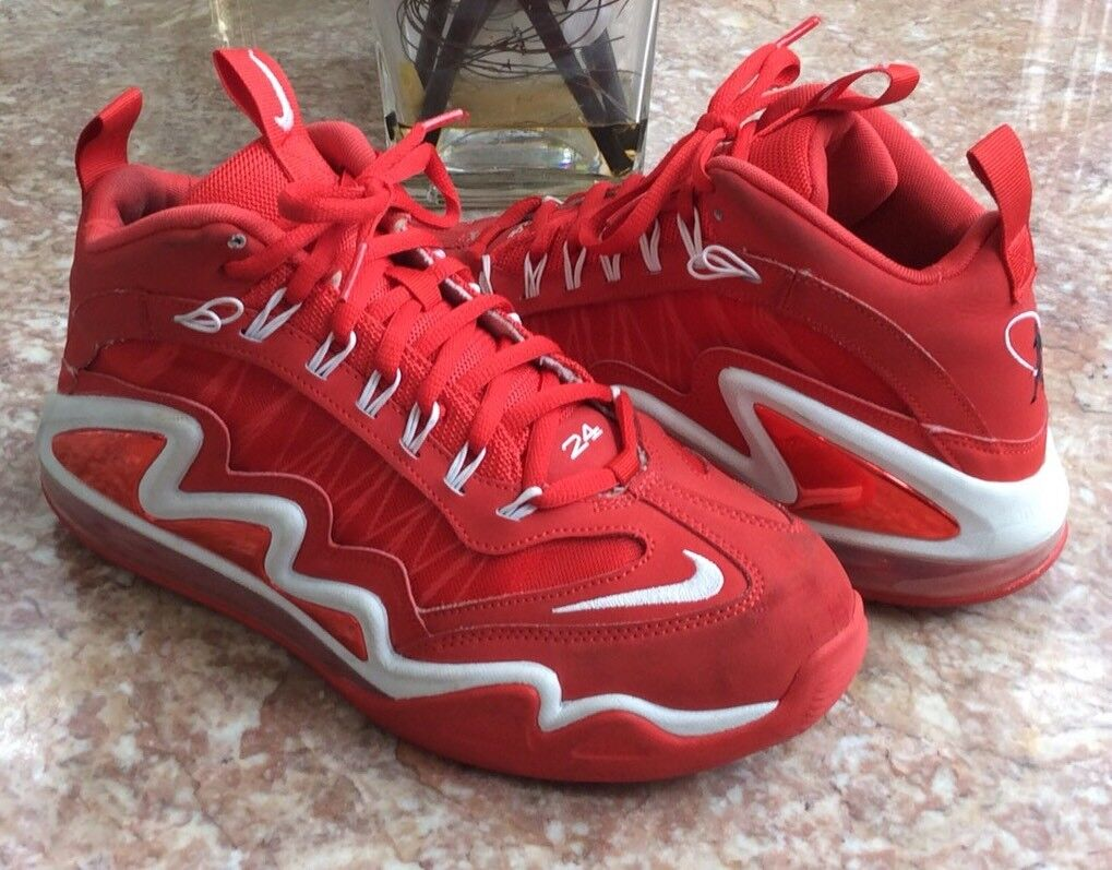 Nike air max 360 diamanten griff  rote basketball - schuhe  9 euc