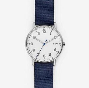 Skagen-SKW6356-Navy-Nylon-Leather-Gents-Watch-40mm-Case-5-ATM-RRP-199