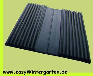 EPDM Gummi schwarz für die Glasauflage Unterleggummi Rillengummi 60 mm breit