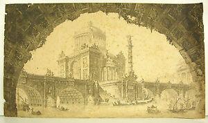 Louis Germain Project A Bridge Triumphant With Glory Of Louis XVI 1775 Daubenton