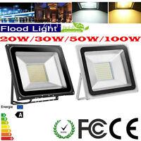 10W 20W 30W 50W 100W LED Floodlight Cool&Warm White Outdoor Lamp Waterproof IP65