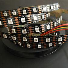 5M APA102 RGB Led strip Light 60Pixel/M Black PCB Addressable 5V Non-Waterproof
