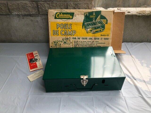 "Vintage Coleman 421 ""Tourist"" Outdoor Camp Stove, 2 Burner With Original Box NEW"